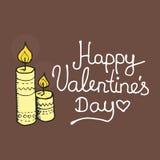 Cartão inspirado romântico e do amor para feliz Fotografia de Stock Royalty Free