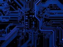 Cartão-matriz azul Fotos de Stock Royalty Free