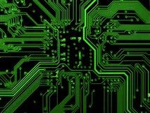 Cartão-matriz verde Fotografia de Stock