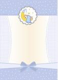 Cartão novo do anúncio do bebé Fotografia de Stock