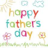 Cartão para o dia de pai Fotos de Stock