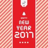 Cartão pelo ano novo feliz 2017 Imagem de Stock