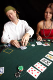 Cartão que joga Fotografia de Stock Royalty Free