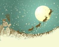 Cartão retro do Natal (ano novo) Foto de Stock Royalty Free