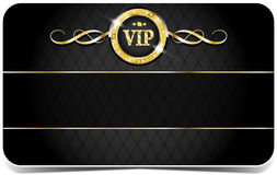Cartão superior do vip Foto de Stock Royalty Free
