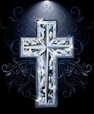 Cartão transversal dos diamantes cristãos, vetor Fotos de Stock Royalty Free