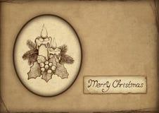 Cartão velho do Natal Imagem de Stock