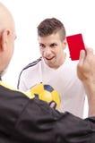 Cartão vermelho! Fotos de Stock Royalty Free