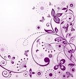 Cartão violeta de cumprimento do vintage Foto de Stock