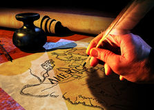 cartograaf stock afbeelding