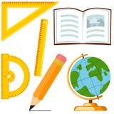 Cartografie en metingen 6 de reeks van het beeldverhaalpictogram stock illustratie