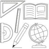Cartografie en metingen 6 pictogramreeks vector illustratie