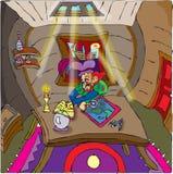 Cartografo di Gnome Fotografia Stock