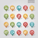 Cartographie de la partie de ferme d'icônes de goupilles Image libre de droits