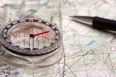 Cartographie de la voie Images libres de droits