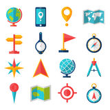 Cartography Flat Icon Set Stock Photography