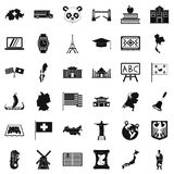 Cartography icons set, simple style Royalty Free Stock Photos
