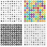 100 cartography icons set vector variant. 100 cartography icons set vector in 4 variant for any web design isolated on white Royalty Free Stock Photo