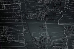 Cartography map city Stock Photography