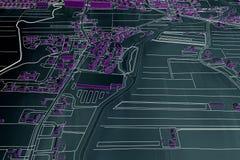 Cartography map city Royalty Free Stock Photo