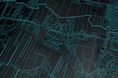 Cartography map city Stock Photos
