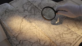 A cartography is science dealing with earth Stock Image