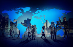 Cartography World Map Connection Globalisation Concept stock image