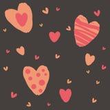 Cartolina astratta di amore Immagini Stock