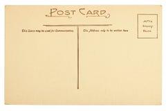 Cartolina in bianco immagine stock