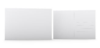 Cartolina in bianco immagini stock