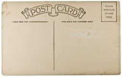 Cartolina in bianco dell'annata Fotografia Stock