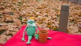 Cartolina comica con il paesaggio di autunno per un buon umore Fotografia Stock Libera da Diritti