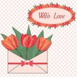 Cartolina con amore Fotografia Stock Libera da Diritti