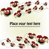 Cartolina con coccinelle divertenti Fotografia Stock