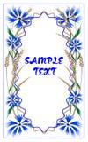 Cartolina con i fiordalisi e le orecchie di grano royalty illustrazione gratis