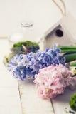 Cartolina con i fiori eleganti Fotografie Stock