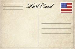 Cartolina con il bollo della bandiera Fotografia Stock Libera da Diritti