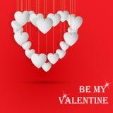 Cartolina con il cuore Immagini Stock
