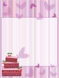 Cartolina con il grafico a torta Fotografie Stock Libere da Diritti