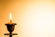 Cartolina con la candela Immagini Stock