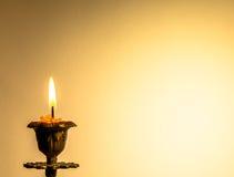 Cartolina con la candela Immagine Stock