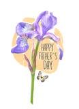 Cartolina creativa per il giorno felice del ` s del padre Può usare come cartolina d'auguri, il manifesto, aletta di filatoio Fotografie Stock Libere da Diritti