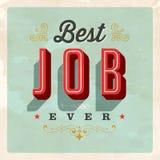 Cartolina d'annata di stile - migliore Job Ever Fotografie Stock Libere da Diritti