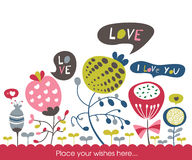 Cartolina d'auguri Fotografie Stock