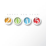 Cartolina d'auguri 2015 Immagini Stock