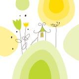 Cartolina d'auguri illustrazione vettoriale