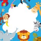 Cartolina d'auguri africana degli animali royalty illustrazione gratis