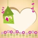 Cartolina d'auguri - amore Fotografie Stock