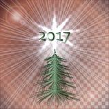 Cartolina d'auguri anno di nuovo e di natale Fondo astratto del nuovo anno Fotografia Stock Libera da Diritti