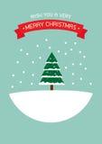Cartolina d'auguri anno felice di nuovo e di Buon Natale Fotografia Stock